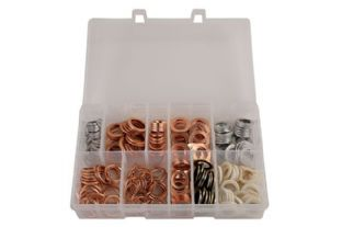 Set of 240 Connect 31890 Assorted Sump Plug Washers